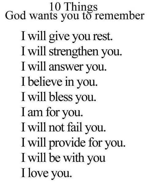 Just Remember God