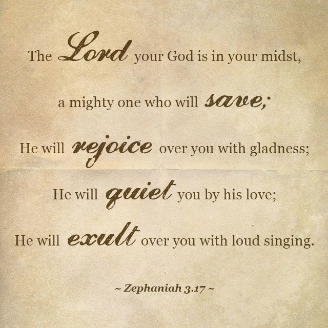 Image result for Zephaniah 3:17